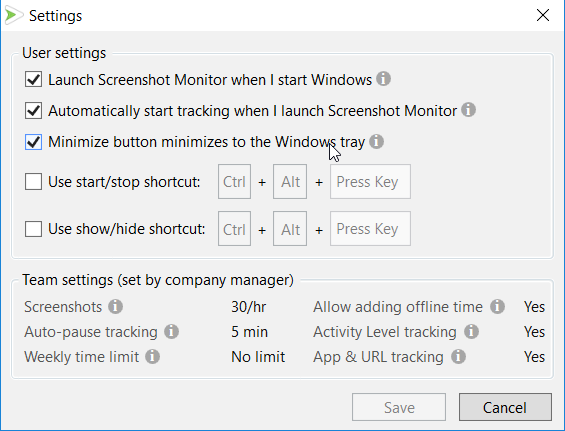 Screen Shot Monitor Tracking Settings Track My Hours   The Best Time Tracking Applications (to Stay Focused)